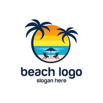 Strand logo vectoren