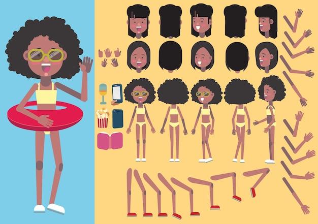 Strand meisje creatie set.