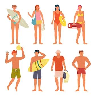 Strand mensen collectie