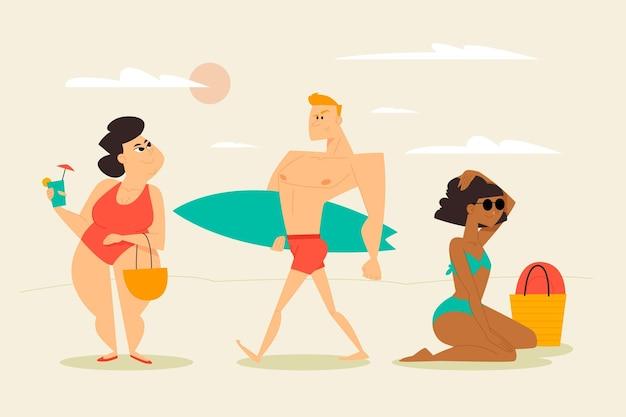 Strand mensen concept