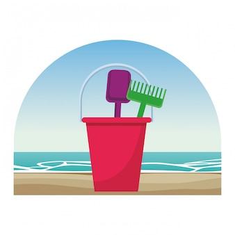 Strand speelgoed pictogram