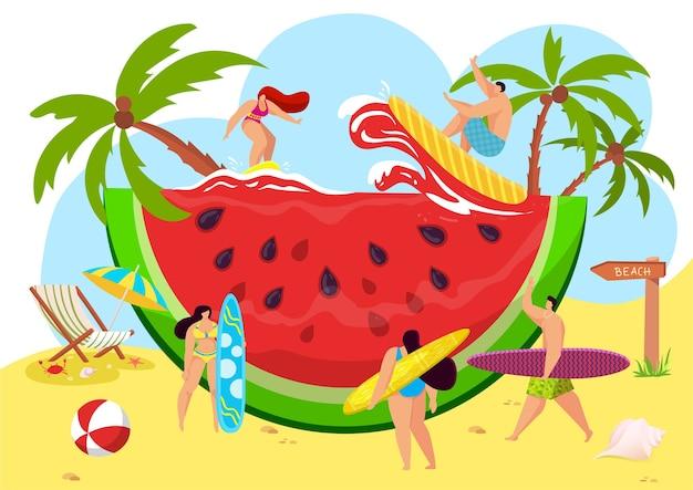 Strand tropische watermeloen