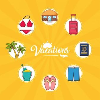 Strand vakanties elementen