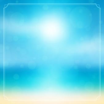 Strand zee en zon zomervakantie achtergrond