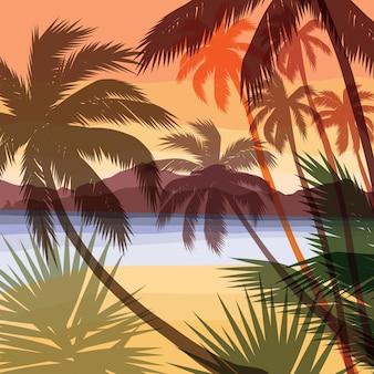 Strand zomer achtergrond.