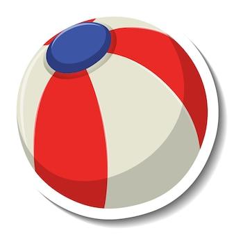 Strandbal voor zomer cartoon sticker