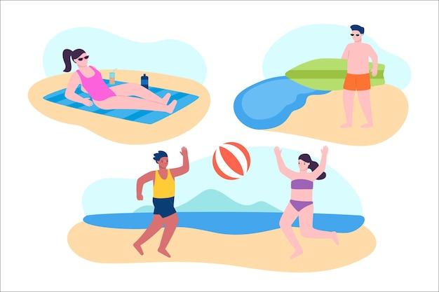 Strandmensen instellen