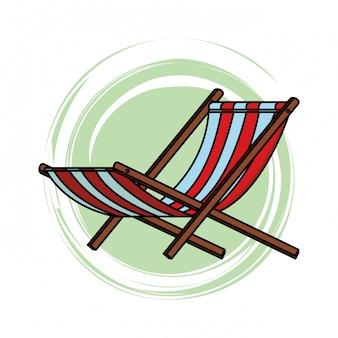 Strandstoel pictogram