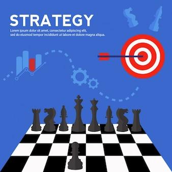 Strategie achtergrond ontwerp