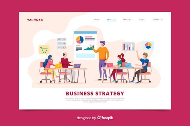 Strategie bestemmingspagina voor bedrijven