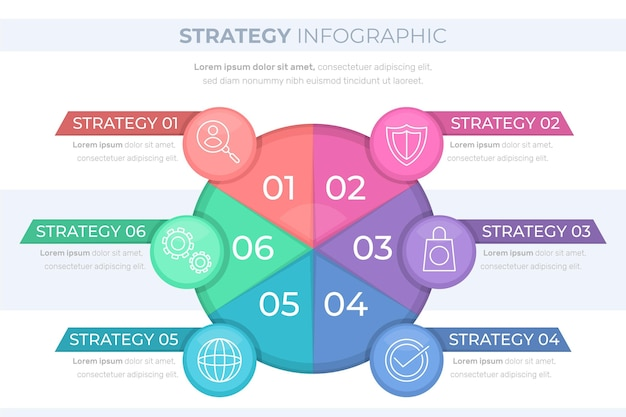 Strategie infographic concept