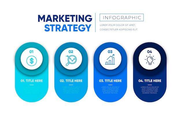 Strategie infographic concept