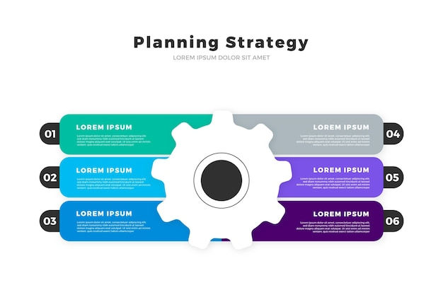 Strategie infographic sjabloon