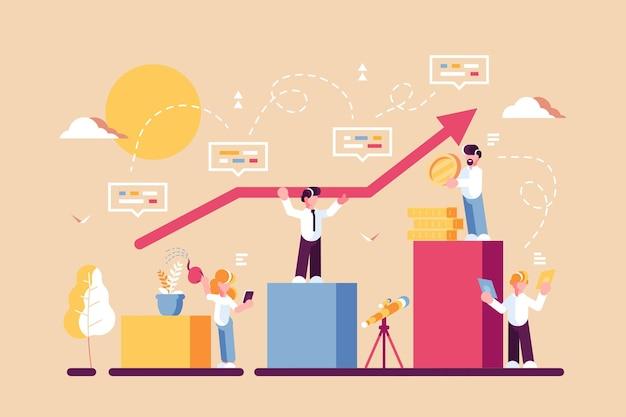 Strategie voor illustratie van langetermijnplanning