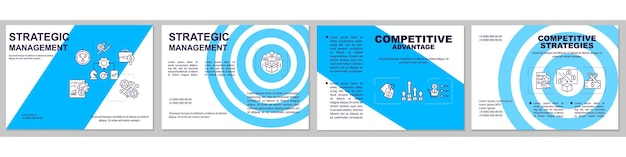 Strategisch management brochure sjabloon. concurrentie voordeel. flyer, boekje, folderdruk, omslaglay-outs voor tijdschriften, jaarverslagen, reclameposters