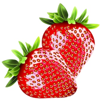 Strawberry realistic