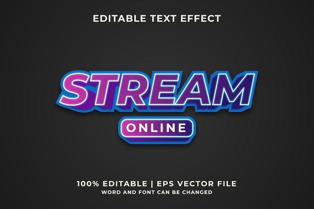 Stream online teksteffect premium vector