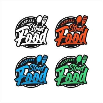 Street food festival premium logo food
