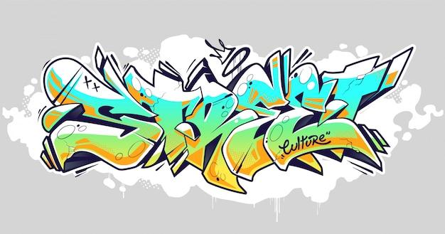 Street graffiti belettering art