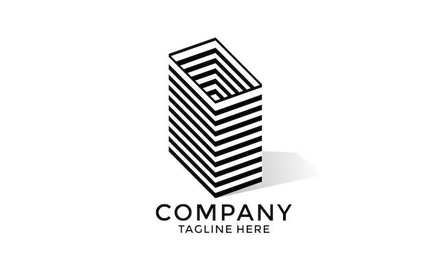 Strepen gebouw mark monogram logo