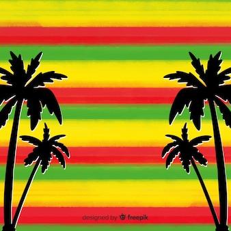 Strepen reggae achtergrond