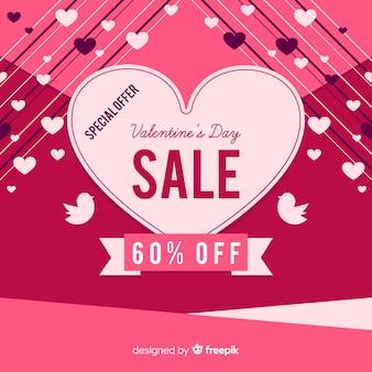 Strepen valentijn verkoop achtergrond