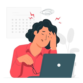 Stress concept illustratie