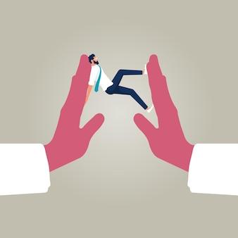Stress last angst van werk moeilijkheid en overbelasting probleem in economische crisis