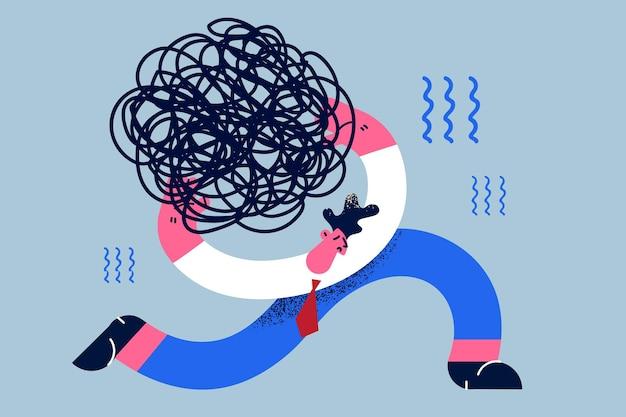 Stress last moeilijkheid crisis concept