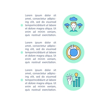 Stress management concept lijn pictogrammen met tekst