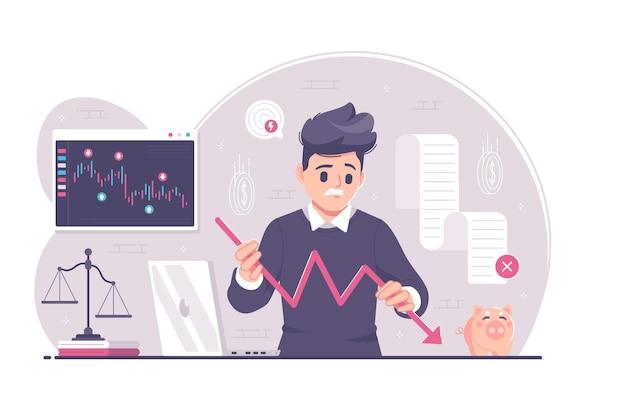 Stress ondernemer geld verliezen
