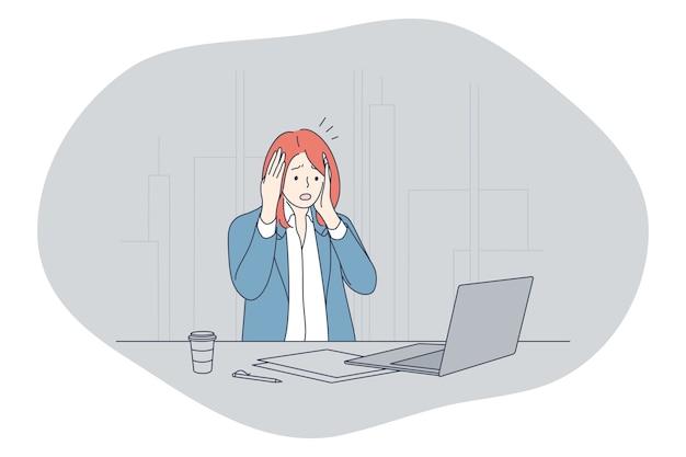Stress, overwerk, overbelasting concept.