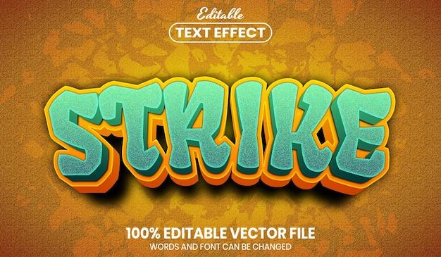 Strike-tekst, bewerkbaar teksteffect in lettertypestijl
