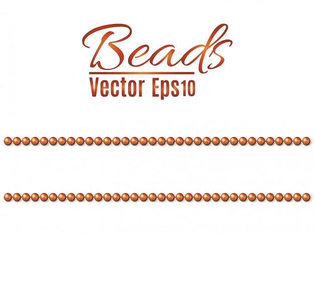 String beads zijn realistisch. decoratief element. naadloos patroon
