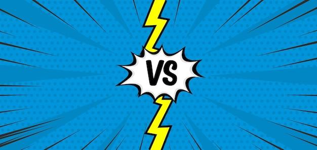 Strip cartoon versus achtergrond