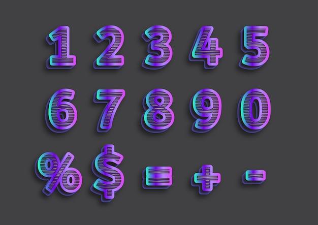 Strip embosse nummers set