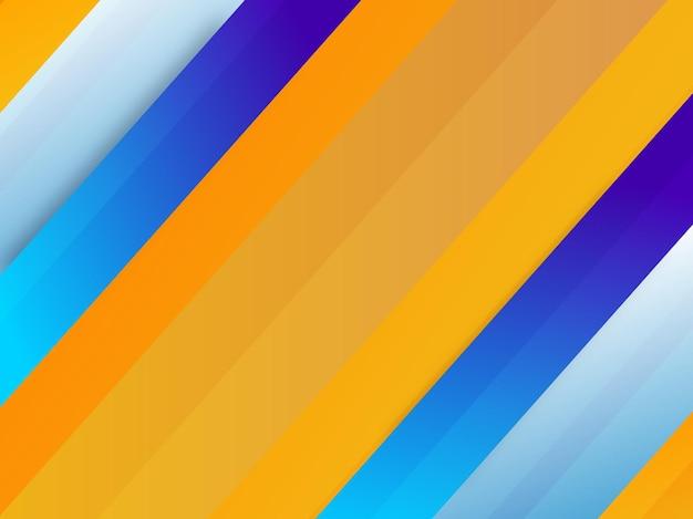 Strip geel blauwe achtergrond