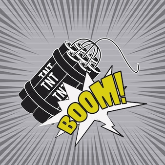 Stripboek explosie popart cartoon