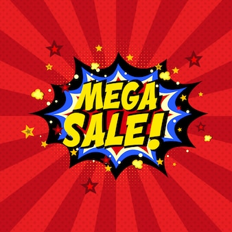 Stripboek mega-verkoop achtergrond