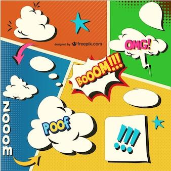 Stripboek pagina sjabloon vector voor download
