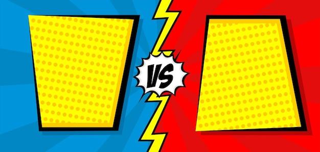 Stripboek versus sjabloonachtergrond