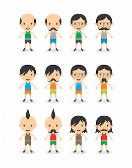 Stripfiguur avatar vector grafische kunst illustratie