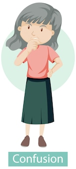 Stripfiguur met symptomen van verwarring