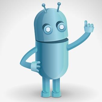 Stripfiguur van grappige robot