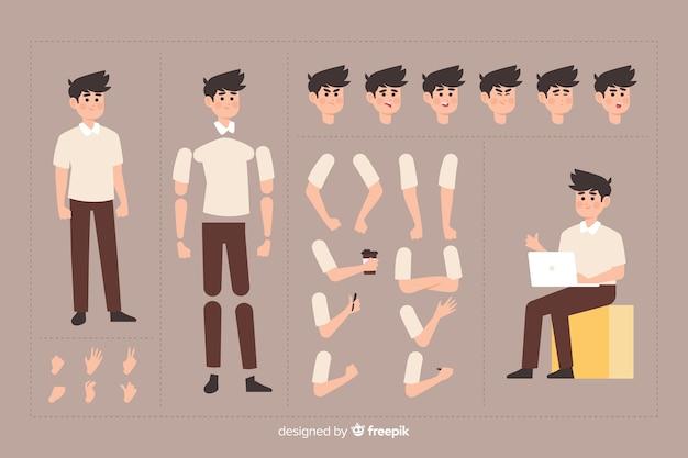 Stripfiguur voor motion design
