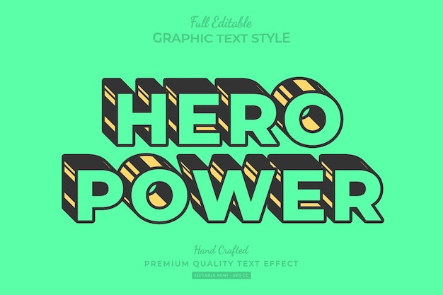 Stripped cartoon bewerkbare premium teksteffect lettertypestijl