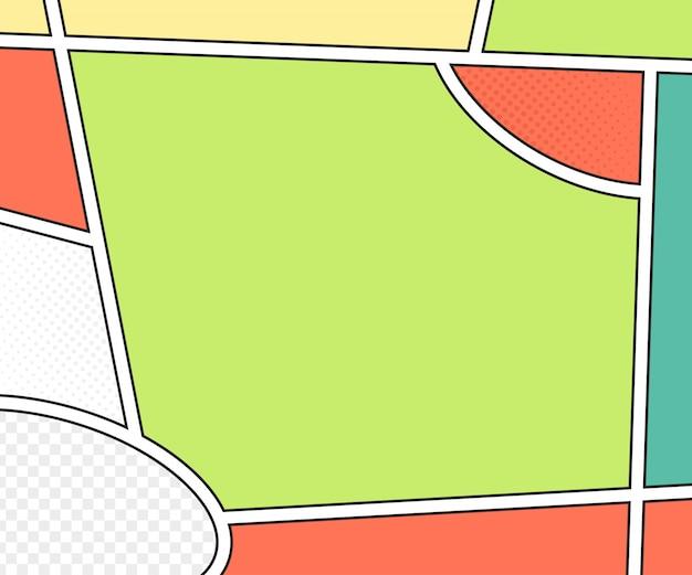 Strips boekpagina. vectormodel in pop-artstijl. kleurrijke illustratie