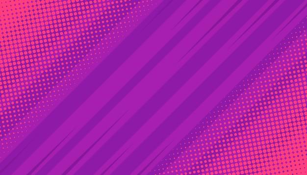 Strips stralen achtergrond met halftonen.