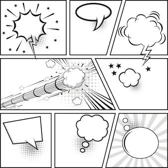 Stripverhaal en komische tekstballonnen