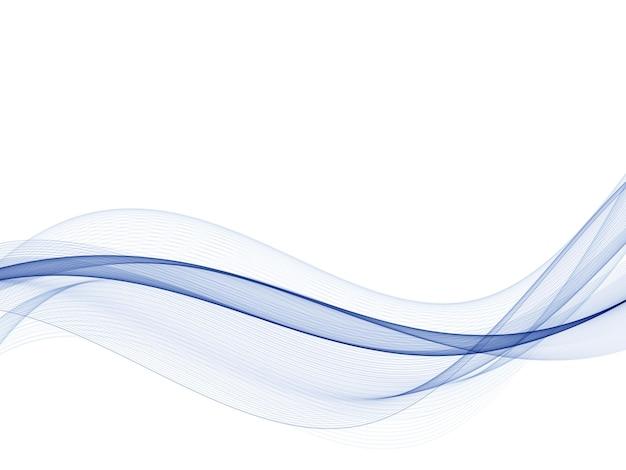 Stromende golven van blauw water.